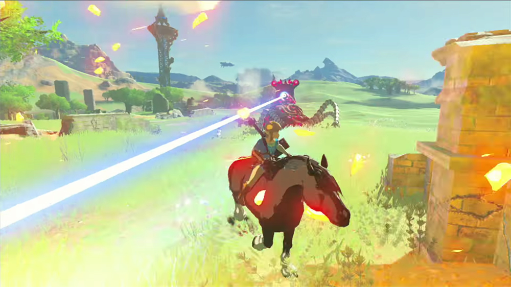 breath of the wild how to catch the giant horse